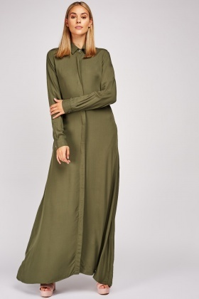 Teresamoon Womens Casual Pocket Beach Long Dress Short Sleeve Split Loose Maxi Dress
