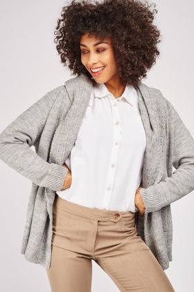Slouchy Hooded Knit Cardigan