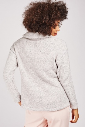 Zip Up Borg Jumper