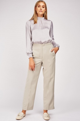 Sand Straight Leg Trousers