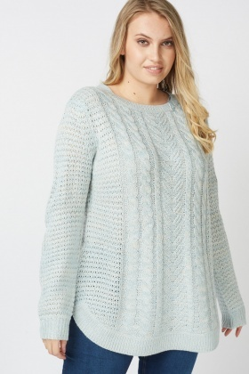 Slouchy Cable Knit Jumper