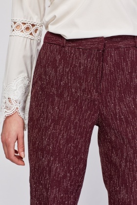 Speckled Textured Tapered Trousers