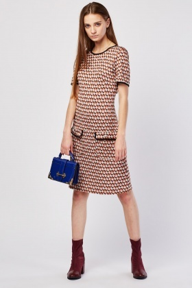 Twin Pocket Front Printed Dress