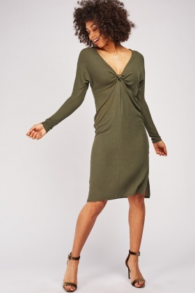 Twisted Light Weight Ribbed Dress