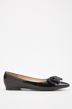 Bow Trim Vinyl Pointy Flats