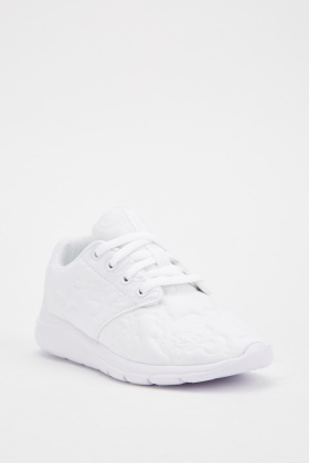 Kids Lace Up Embossed Trainers