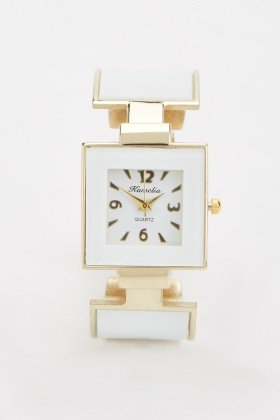Square Face Bangle Watch