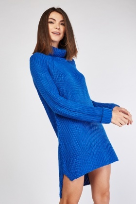 release date the best enjoy lowest price Chunky Roll Neck Jumper Dress