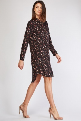 Ditsy Floral Shirt Dress