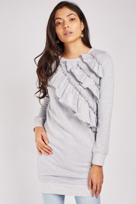 Asymmetric Ruffle Long Jumper