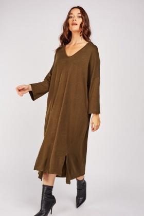 Double Slit Front Slouchy Dress £5.00