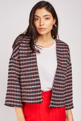 Multi Coloured Tweed Jacket