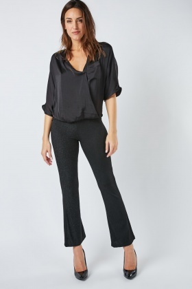 Stretchy Lurex Trousers