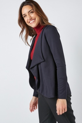 Waterfall Textured Navy Jacket