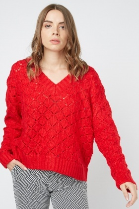 Loose Knit Pattern Jumper