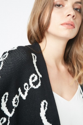 Love Knitted Open Front Cardigan