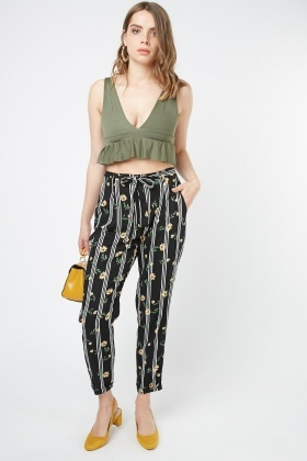 Mix Printed Light Weight Trousers