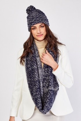 Speckled Beanie Hat And Snood Set