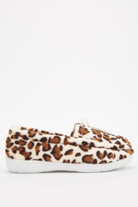 Leopard Print Indoor Slippers
