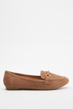 Slip On Faux Suede Loafers