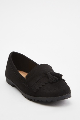 Tassel Fringed Front Loafers