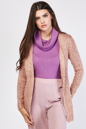 Dusty Pink Speckled Cardigan
