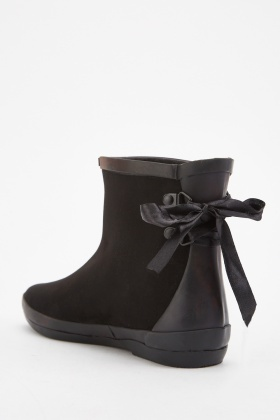Ribbon Lace Up Back Boots