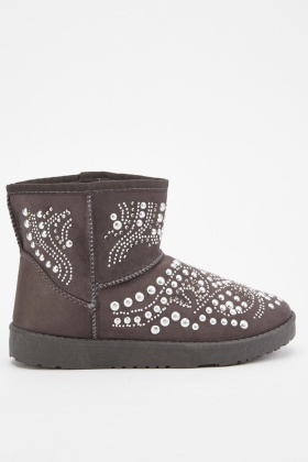 Studded Embellished Winter Boots