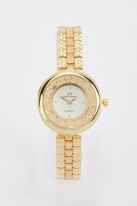 Crystal Stone Ladies Watch