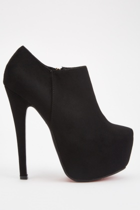 Suedette High Heeled Boots