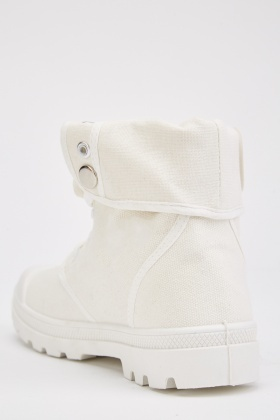 Embroidered High Top Shoes