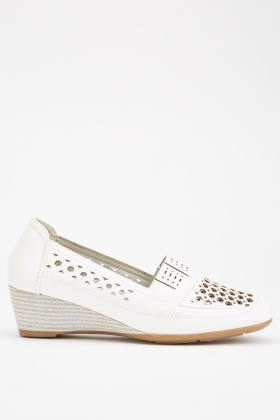 Perforated Wedge Shoes