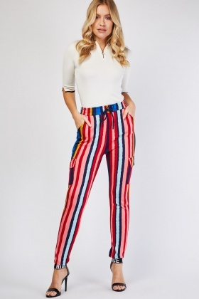 Candy Stripe Tapered Trousers