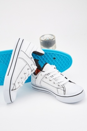 Lace Up Kids Canvas Shoes