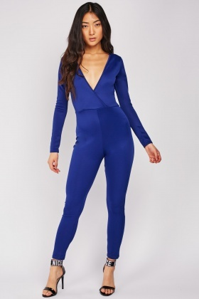 Wrap Royal Blue Jumpsuit