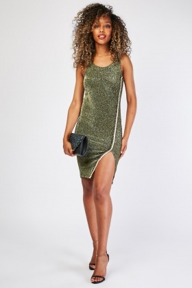 Metallic Braided Trim Lurex Dress