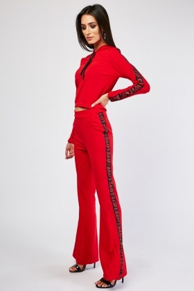 Logo Side Top And Trousers Co-Ord Set