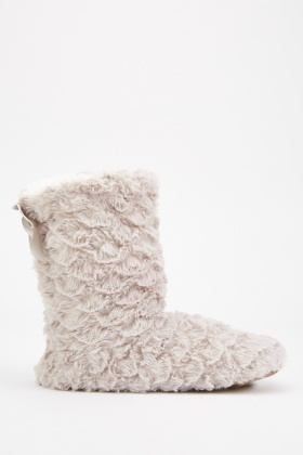 Comfy Fleece Indoor Slipper Boots