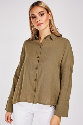 Slouchy Sheer Crinkle Shirt