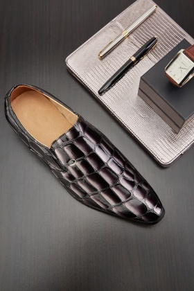 Crocodile Skin Efffect Mens Shoes