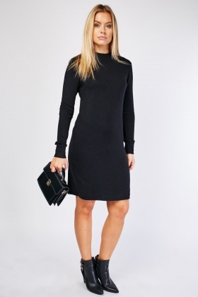 Long Sleeve Midi Knit Dress