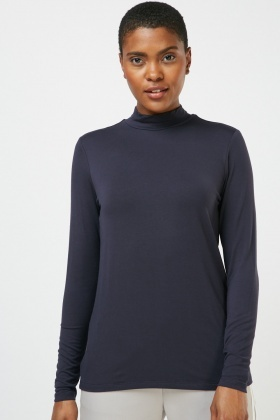 Basic Plain Jersey Top