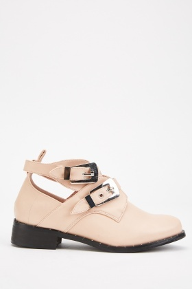 Buckle Side Low Heels