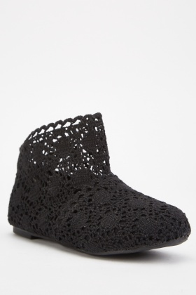 Crochet Ankle Boots