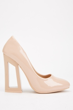 Glass Block Heel Pumps