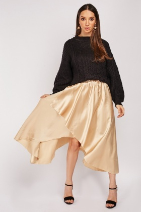 Metallic Tulip Skirt