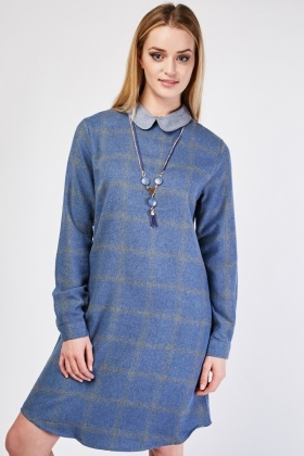 Peter-Pan Collar Shirt Dress