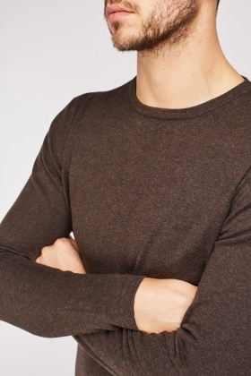 Plain Knit Pullover