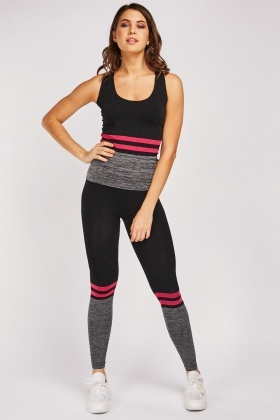 Speckled Striped Sportswear Set