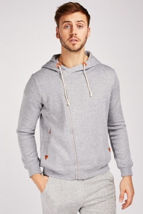 Zip Up Speckled Hoodie